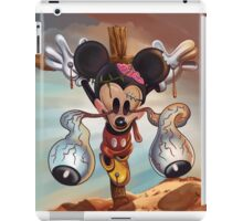 Crucified Mickey iPad Case/Skin
