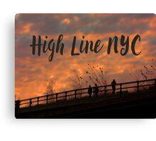 High Line Sunset Canvas Print