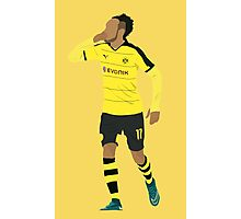 Pierre-Emerick Aubameyang celebrates his hat-trick. Photographic Print