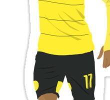 Pierre-Emerick Aubameyang celebrates his hat-trick. Sticker