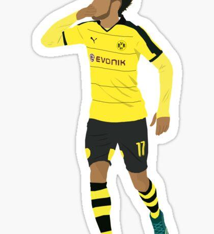 Pierre-Emerick Aubameyang celebrates his hat-trick. Sticker