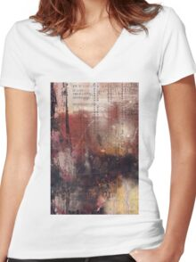 Time Set  Women's Fitted V-Neck T-Shirt