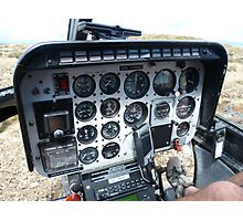 Helicopter control panel Photographic Print