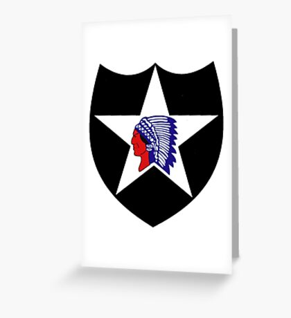 2nd Infantry Division Logo Greeting Card