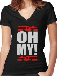Oh My! (A Tribute to George Takei) Women's Fitted V-Neck T-Shirt