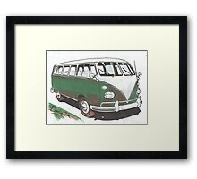 Green Bus Framed Print