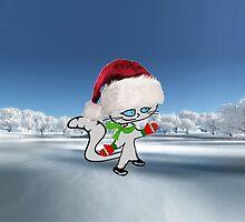 Cat Ice Skating by JohnsCatzz