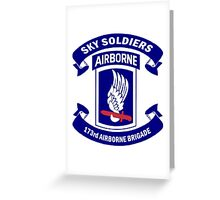 173rd Airborne Brigade Combat Team Crest Greeting Card