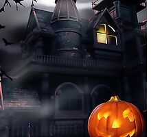 Halloween Haunted House Phone Case by youtubemugs