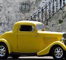 Yellow Coupe Hardtop by artstoreroom