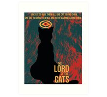 The Lord of the Cats Art Print