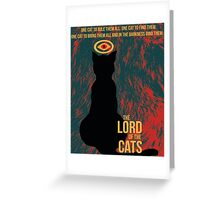 The Lord of the Cats Greeting Card