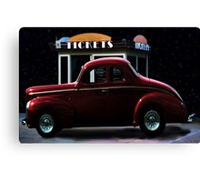 Drive In Movie Canvas Print