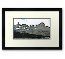 The Torres del Paine Framed Print