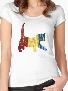 Chameleon Cat Women's Fitted Scoop T-Shirt