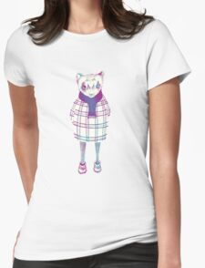 Ferret in Sweater  Womens Fitted T-Shirt