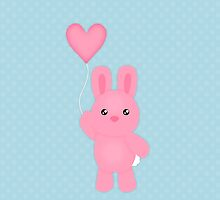 Cute Pink Bunny by runninragged