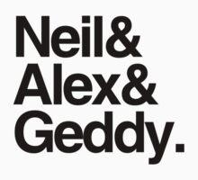 Neil&Alex&Geddy (Light Shirts) by oawan