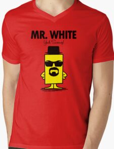 Mr. White Mens V-Neck T-Shirt