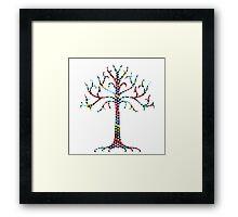 Triangular Gondor tree Framed Print
