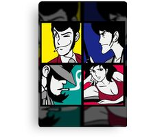 Lupin the third and his friends (2) Canvas Print