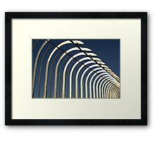 Empire State safety rail Framed Print