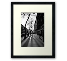 Andrassy shadows - Budapest, Hungary Framed Print