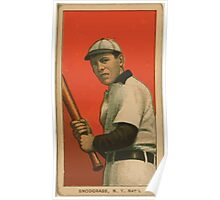 Benjamin K Edwards Collection Fred Snodgrass New York Giants baseball card portrait Poster