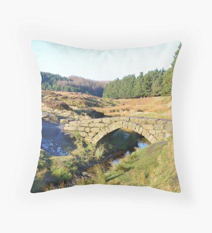 Packhorse Bridge Throw Pillow