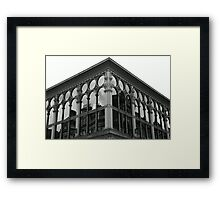 Glasgow: reflections circles and lines Framed Print