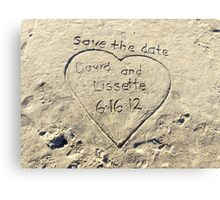 Save The Date Canvas Print