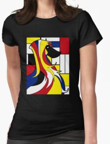Mondrian dog Womens Fitted T-Shirt
