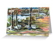 Evening Shadows at Shepherd Mountain Lake Greeting Card