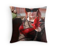 Ruby Riot Throw Pillow
