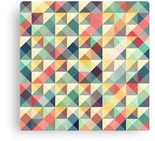 mosaic colorful retro tiles Canvas Print