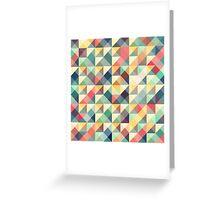 mosaic colorful retro tiles Greeting Card