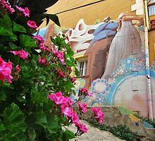 Street Art With Street Flowers by SlenkDee