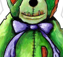 Green Zombie Bear Sticker