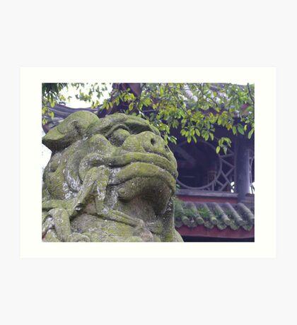 Lion of Emei Art Print