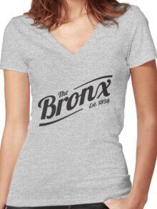 Bronx, NY Shirt Women's Fitted V-Neck T-Shirt