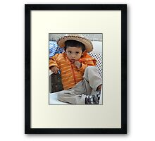 Proud Young Mexican - Joven Mexicano Orgulloso Framed Print