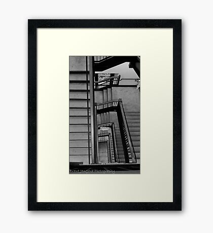 Stadium Staircase Framed Print