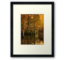 Fall River Reflection Framed Print