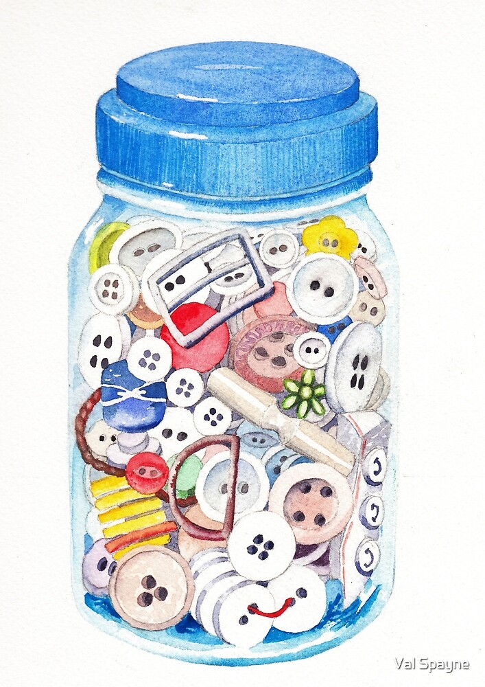 Button Jar by Val Spayne