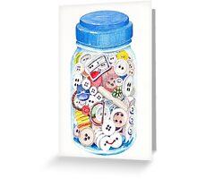 Button Jar Greeting Card