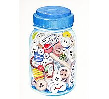 Button Jar Photographic Print