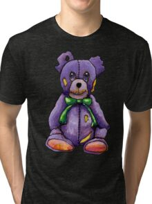 Purple Zombie Bear Tri-blend T-Shirt