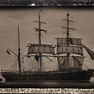 The James Craig - Tall Ship - Newcastle NSW Australia by Bev Woodman