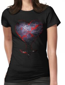 Kingdom Hearts Heartless grunge universe Womens Fitted T-Shirt