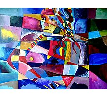 Portrait of Esther in Cubist Photographic Print
